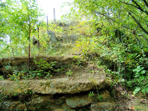 Stone Stairway on the Easy Route
