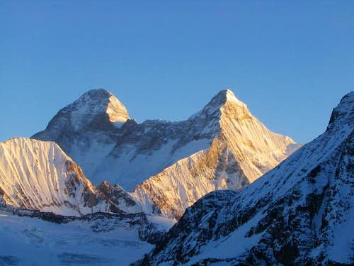 Nanda Devi viewed from the...