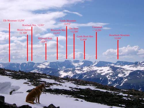 The Beartooth skyline - ample...