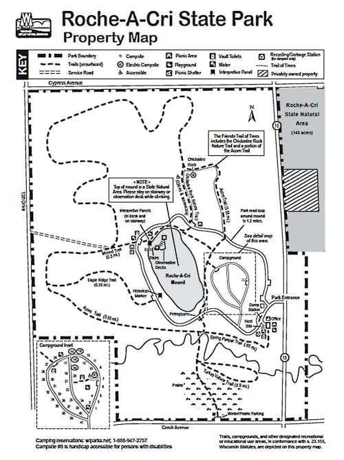 Roche-a-Cri Map, Courtesy Wisconsin DNR