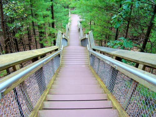 Steep Stairways Have Replaced Old Climbing Routes