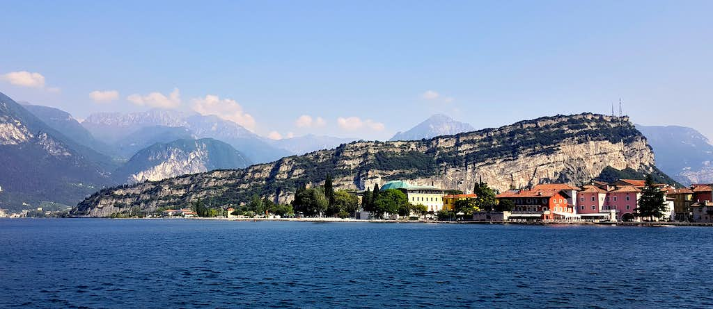 Monte Brione seen from the lake