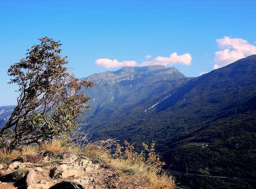 Monte Stivo seen from Monte Brione