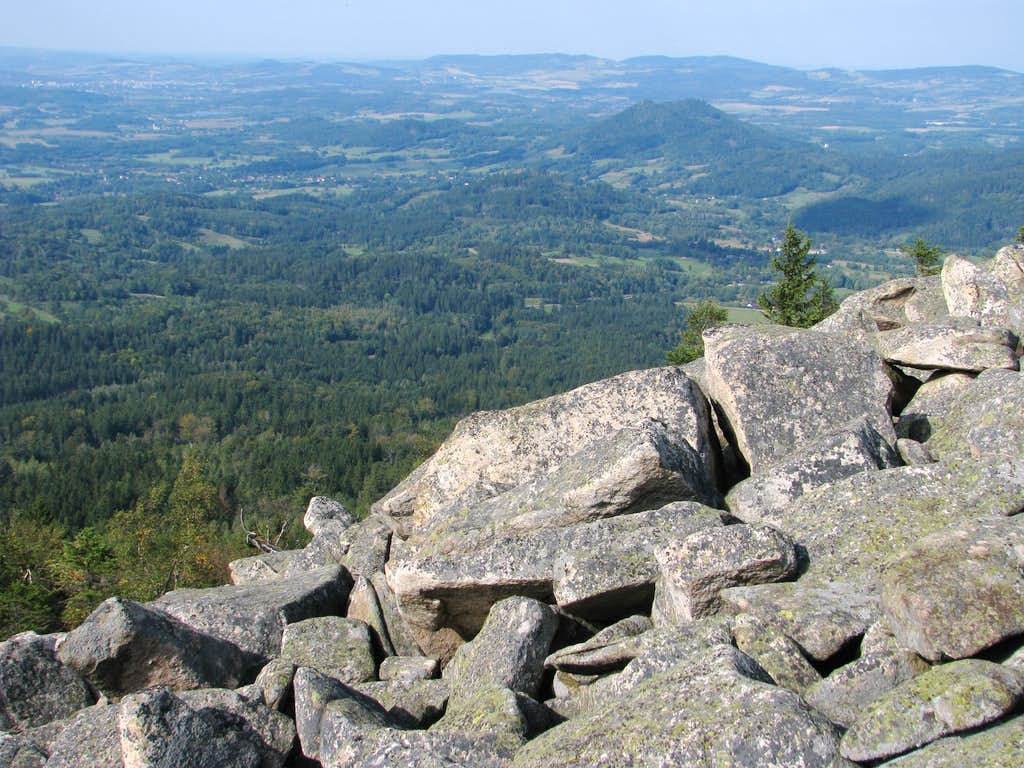 NW view from Skalnik's talus field
