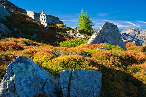 Fall colors on the way up Graukogel