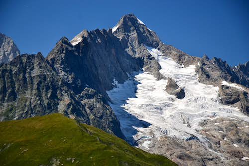The Swiss side of the three-nations mountain Mont Dolent