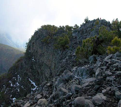 Summit block of Pico Bejenado...
