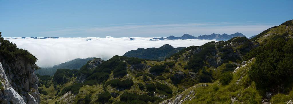 Fog over Bohinj Valley