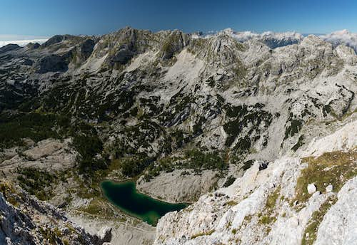 Looking down into the Valley of the Triglav Lakes