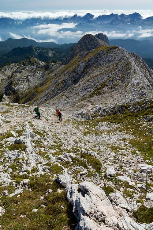 Descending towards Kopica