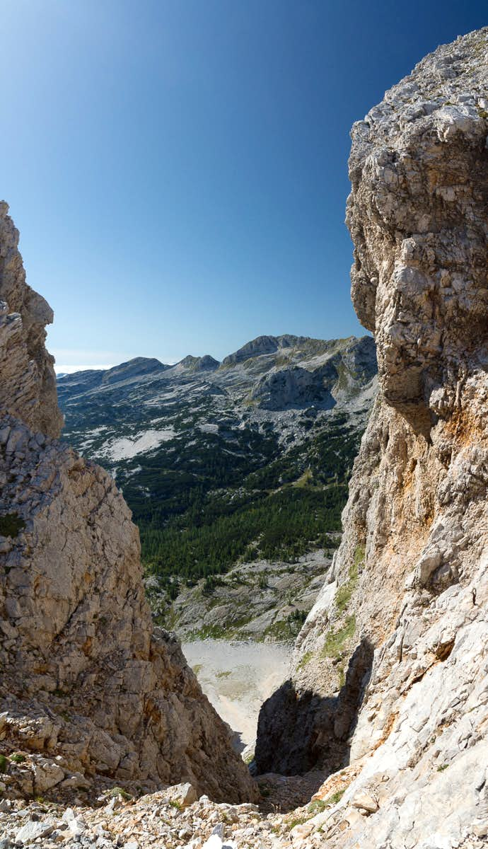 Saddle view towards Veliki Spicje
