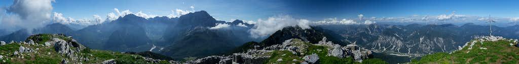 360° summit panorama Jôf di Miezegnot
