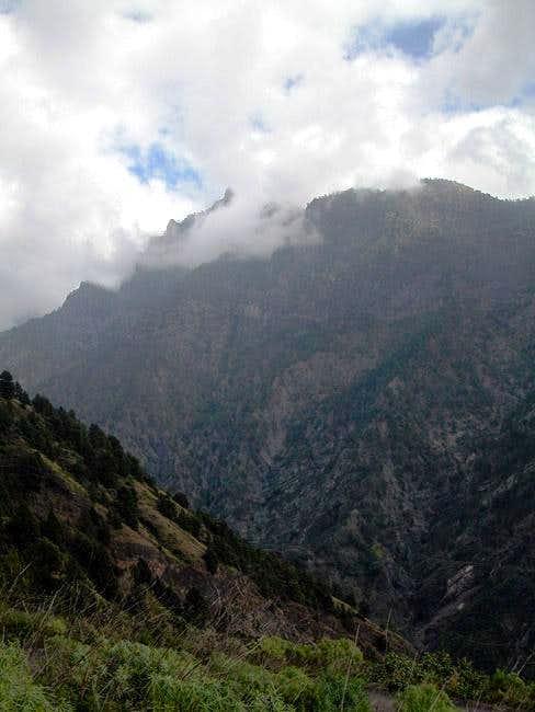 Pico Bejenado north face seen...