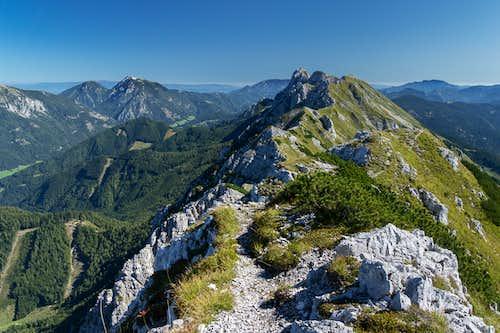 Looking back across the Koschuta Ridge