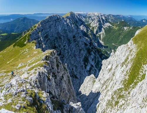 Looking into the Koschuta North Face