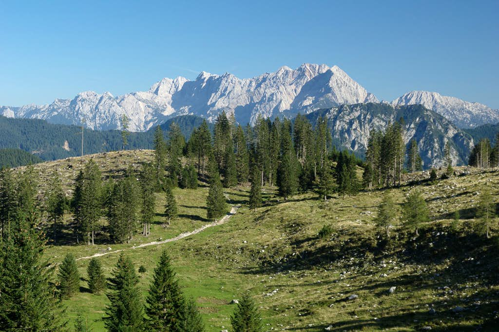 The central mountains of the Kamnik Alps
