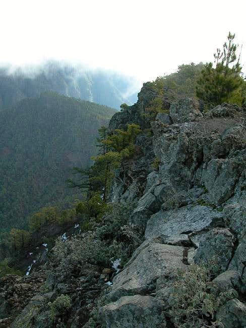 The Pico Bejenado summit...
