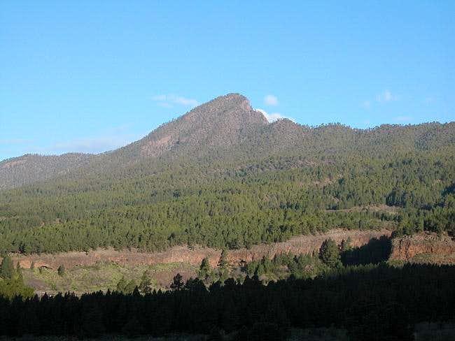 Pico Bejenado on a clear...