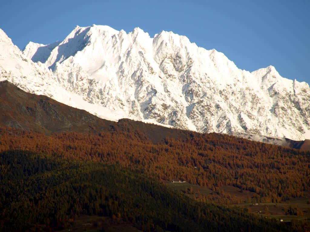 V'lan or Mont Velan after an early snowfall