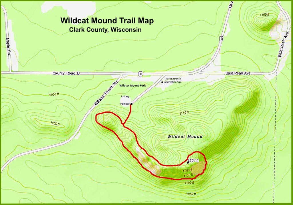Wildcat Mound Trail Map