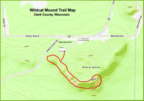 Wildcat Mound Trail Map