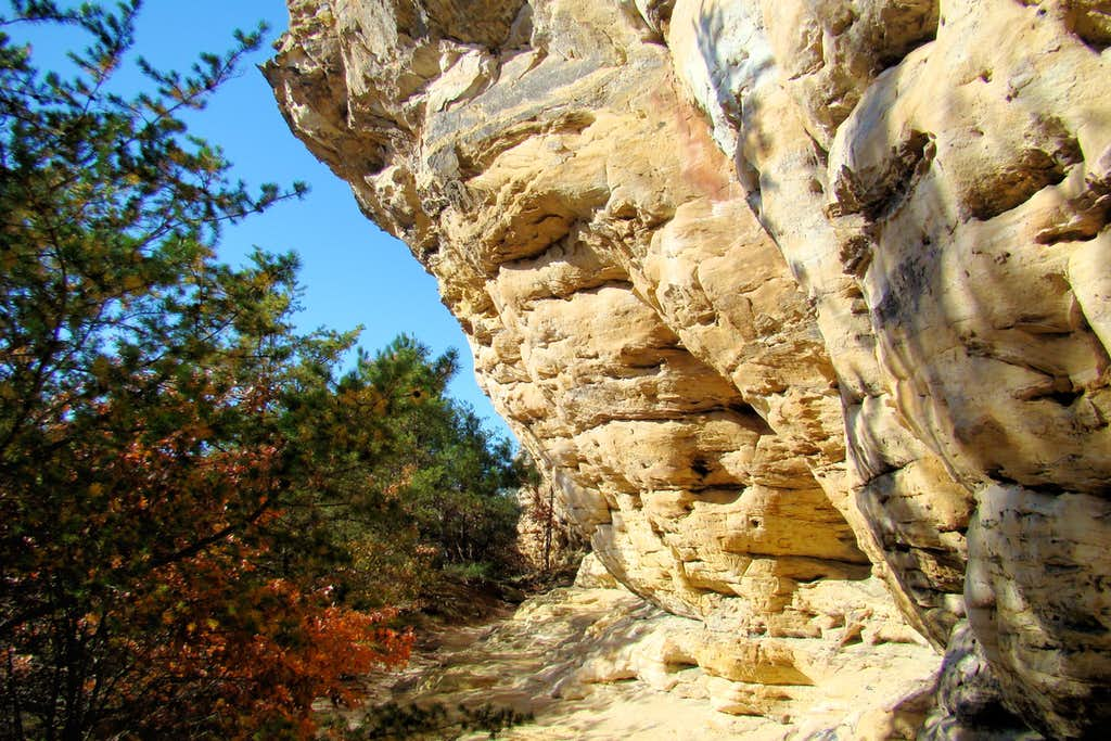 Rocky Overhang Along the Wildcat Trail