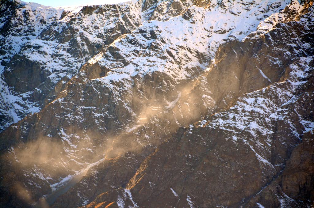GREAT LANDSLIDE on the S-SE Face of Mont Velan or V'lan