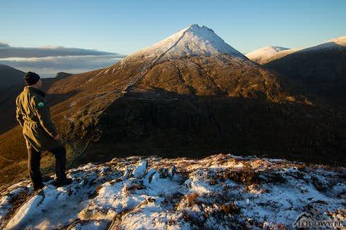 Slieve Bearnagh in morning lights