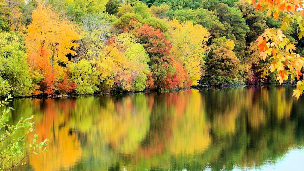 Half Moon Lake Autumn Reflections 2019