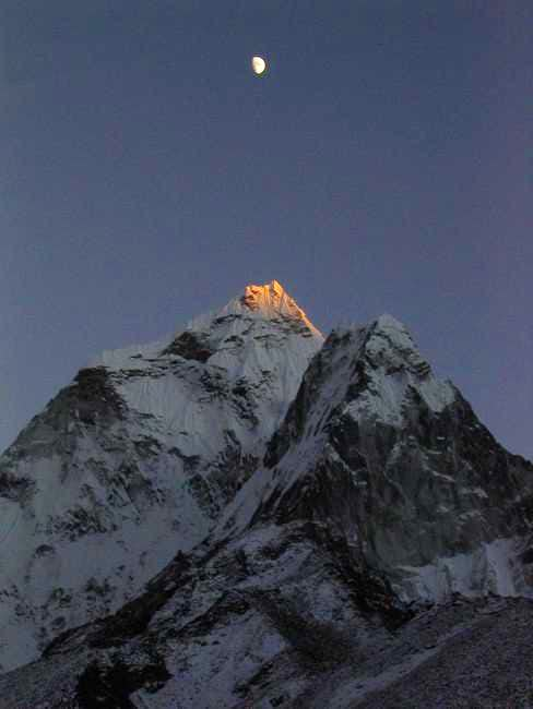 Last light on the peak at...