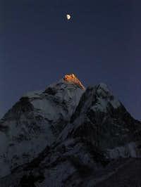 Last light on the peak at...