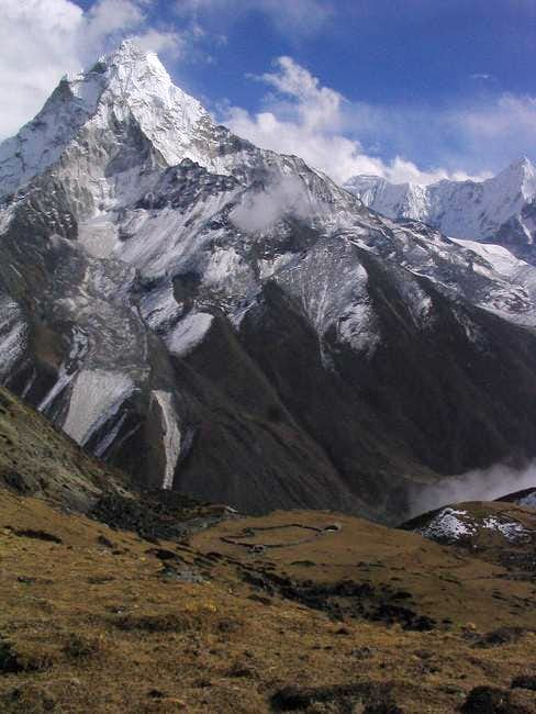 Ama Dablam from the slopes...