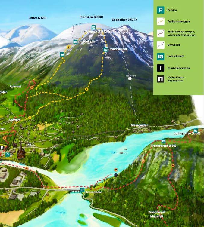 Lomseggen Map