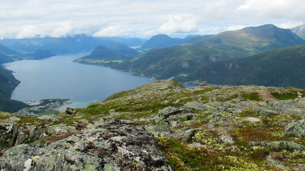 Isfjorden as seen from the Romsdalseggen