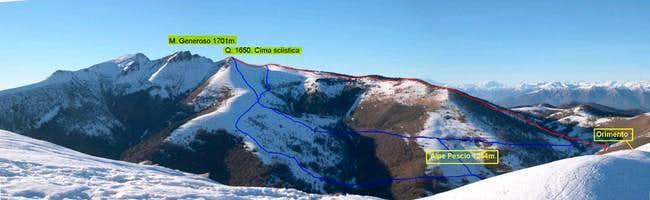 Panorama of Monte Generoso...