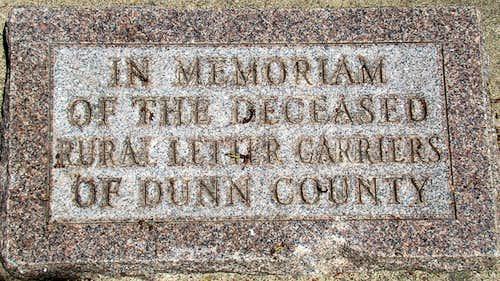 Elk Mound Memorial Plaque