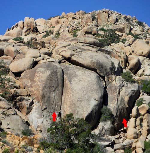Vector Rock, 5.10c-5.11c