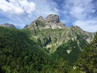 Grande Tete de l'Obiou from the Road to the Trailhead