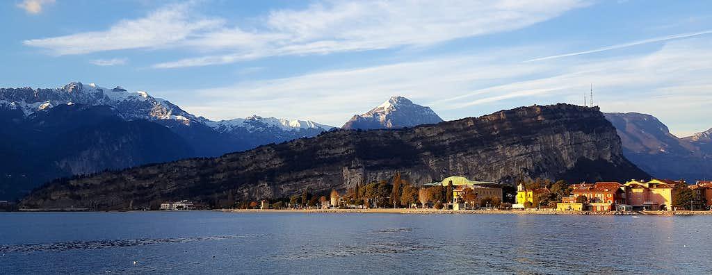 Monte Brione and on background the Pichea chain and Misone