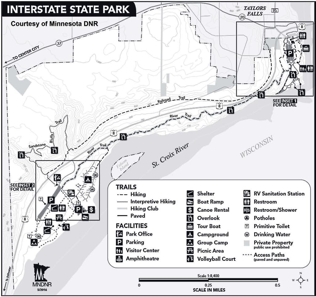 Minnesota Interstate Park Map, Courtesy Minnesota DNR