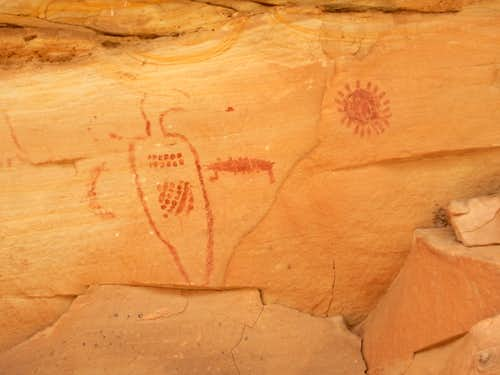 Pictographs in McDonald Canyon