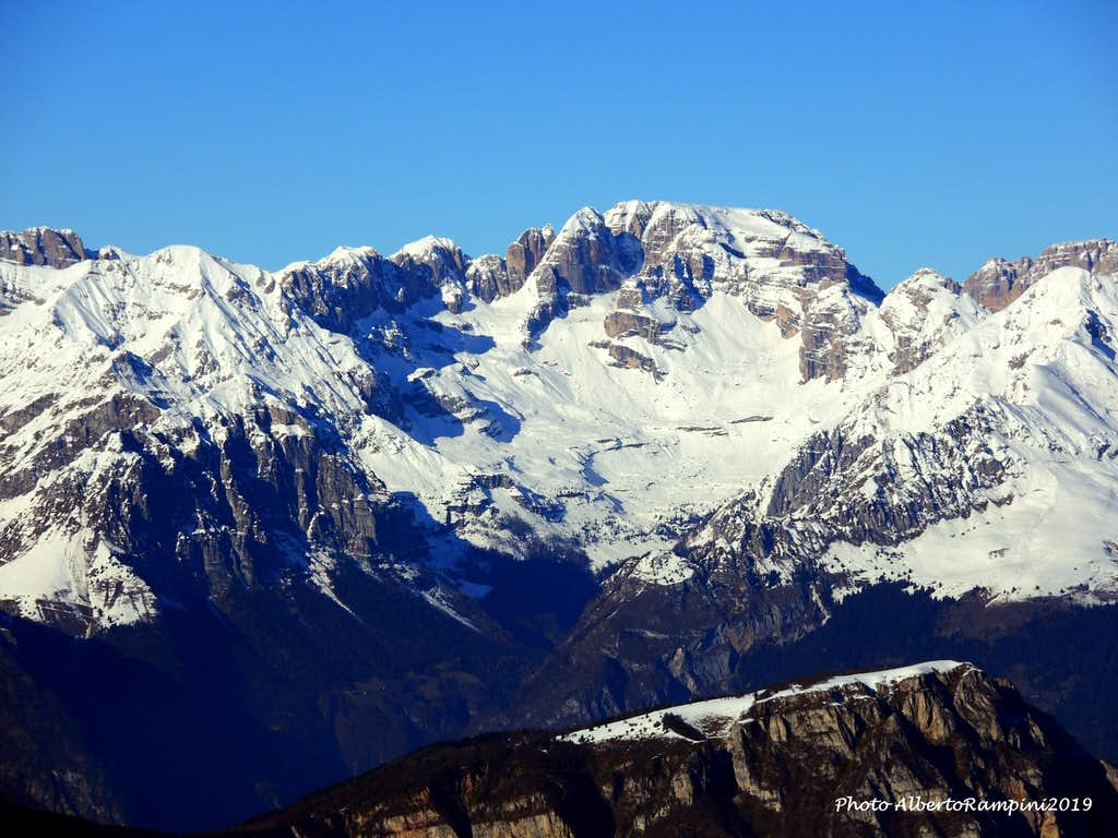 Cima Tosa and Cima d'Ambiez, Monte Casale in foreground