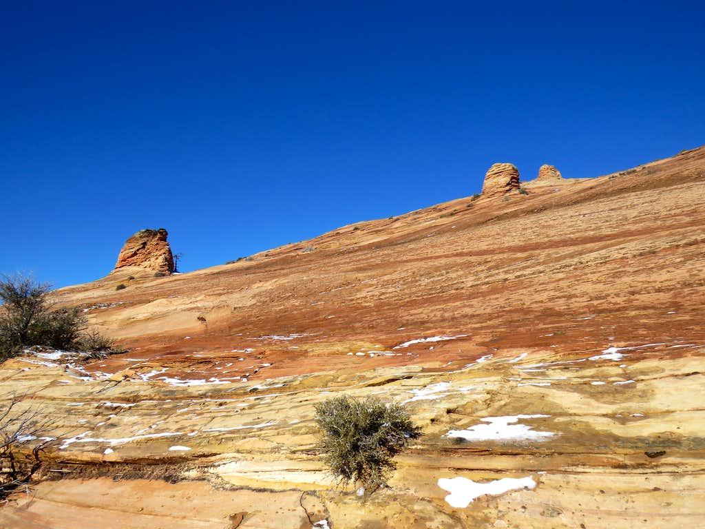 Slickrock slopes of Point 6982 ft