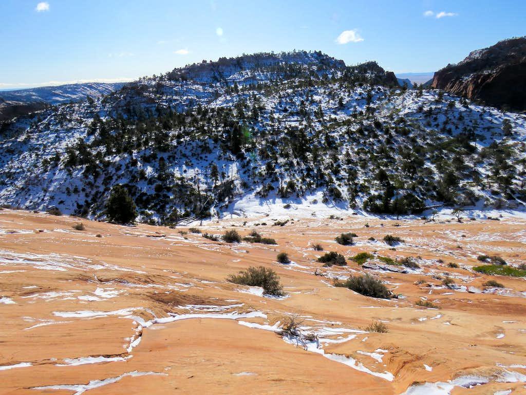 Snowy north facing slopes