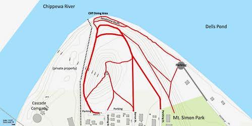 Mt. Simon Trails Map