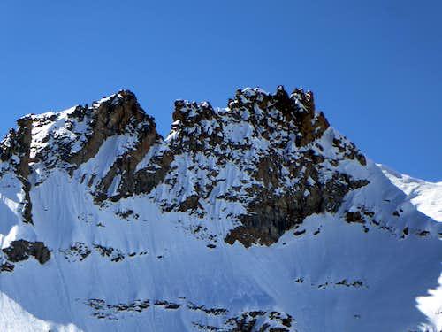 Multiple summits of Denti del Broglio