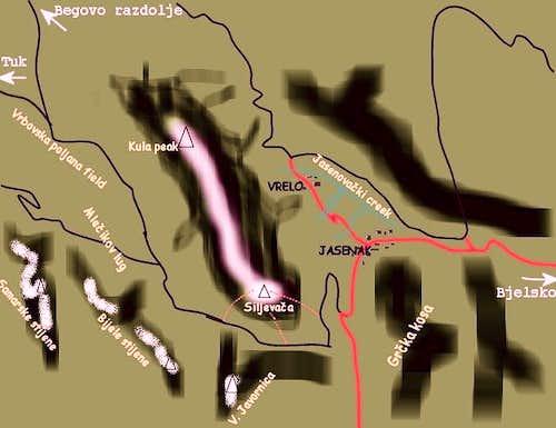 Siljevaca trail