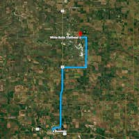 Correct Route via Google Maps from Bowman, ND to the White Butte Trailhead