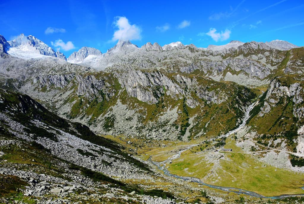 The Val d'Amola and the Presanella group seen from Sentinella del Pedertic
