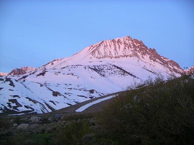 First light on Birch Mt,...